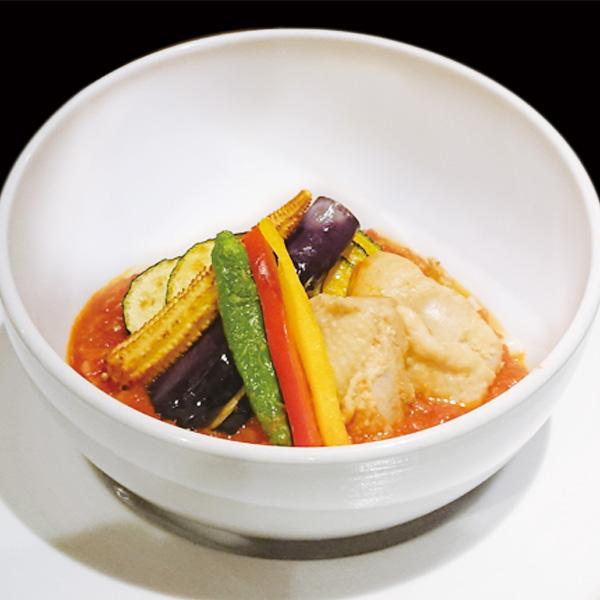 花山うどん銀座店_2019夏限定メニュー_鶏肉とトマトの冷製おっきり