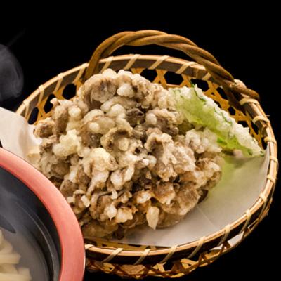 花山うどん 舞茸の天ぷら