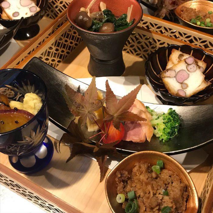花山うどん銀座店 コース料理前菜 小鉢料理