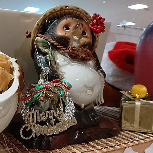 花山うどんアゼリアモール店 クリスマスディスプレイ