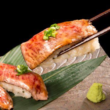赤城牛の炙り寿司