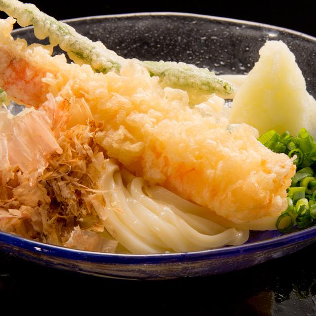 海老天ぷら おろしぶっかけうどん