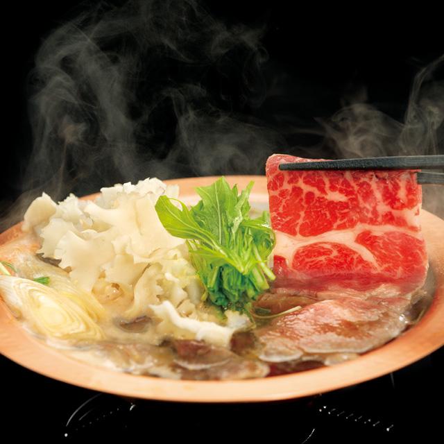 赤城牛と花びら茸のすき鍋