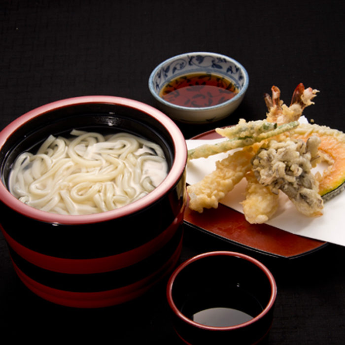 天ぷら盛合せ釜揚げうどん