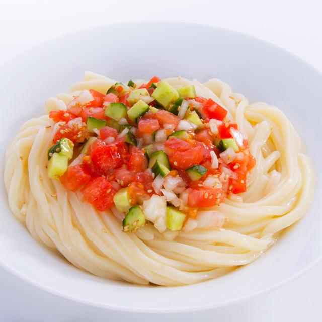 トマトぽん酢つゆ 調理例 サラダうどん