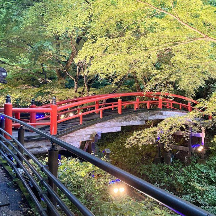 20210717河鹿橋ライトアップ2